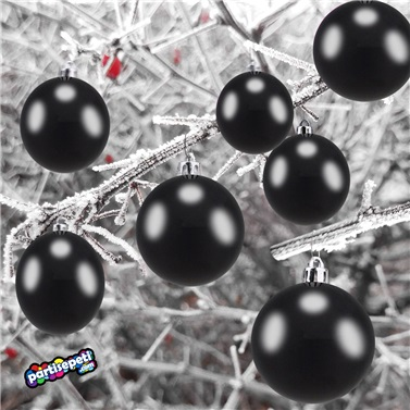Yılbaşı Ağacı Siyah Top Süs