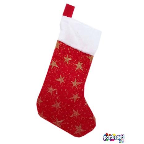 Yılbaşı Noel Çorap Yıldızlı