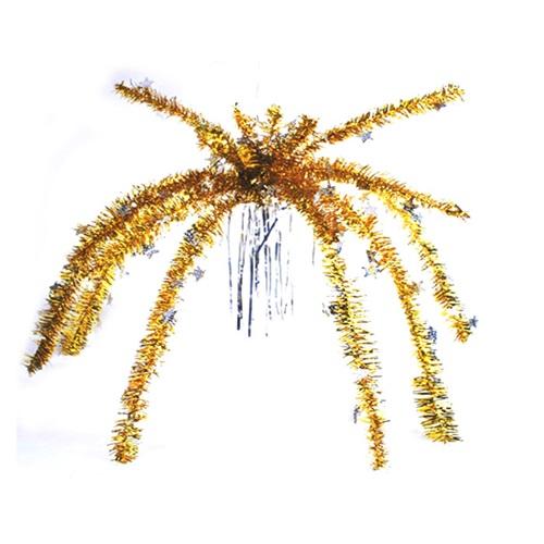 Yılbaşı Sarı Palmiye Süs
