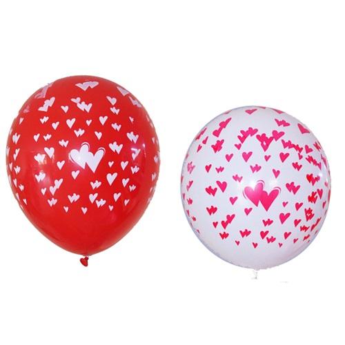 Kalp Baskılı Balon