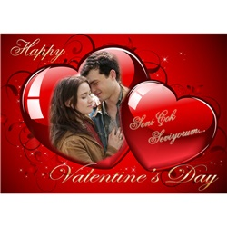 Sevgililer Günü Kişiye Özel Afiş