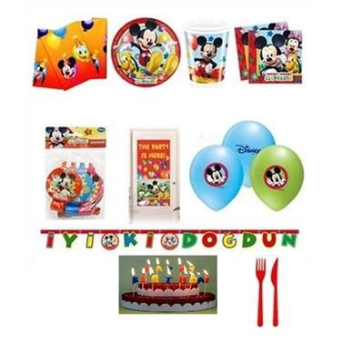 Mickey Mouse Temalı Doğumgünü Set 24 Kişilik