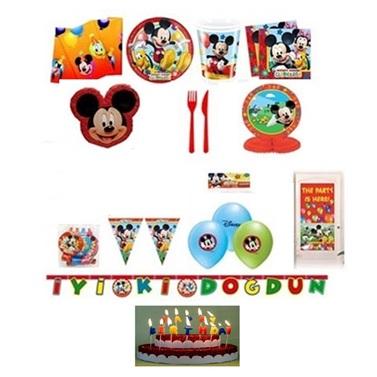 Mickey Mouse Temalı Doğumgünü Set 24 Kişilik Lüx
