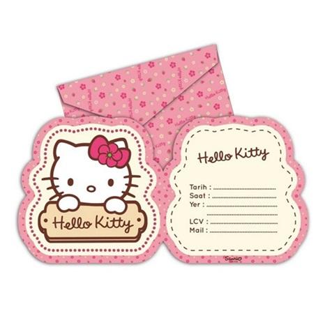 Hello Kitty Davetiye Seti