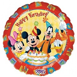 Miki Mouse Happy Birthday Folyo Balon