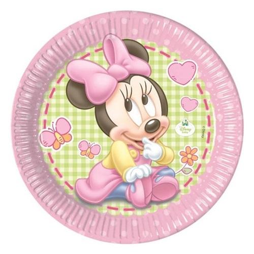 Baby Minnie Mouse Temalı Tabak