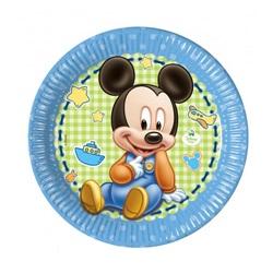 Baby Mickey Mouse Temalı Tabak