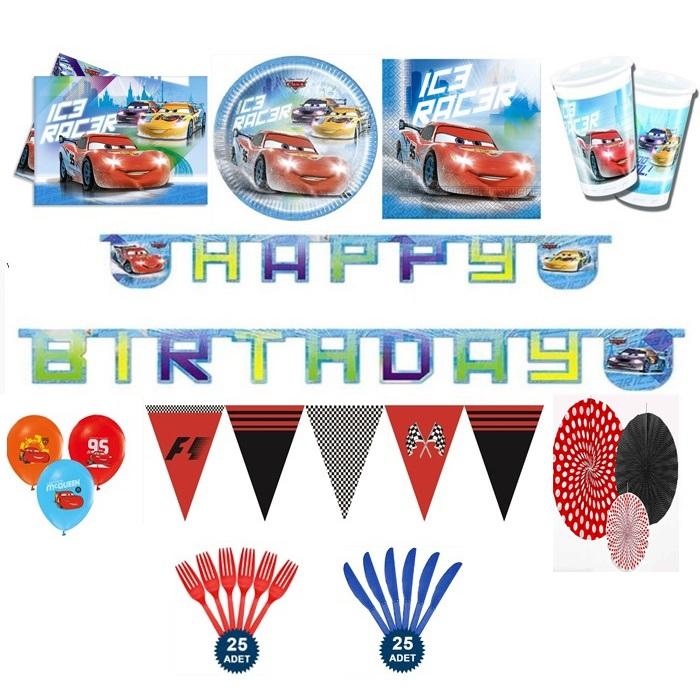 Cars Temalı Doğum Günü Parti Seti Ekonomik