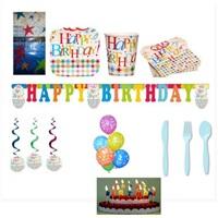 Yıldızlar Doğum Günü Parti Seti 12 Kişilik