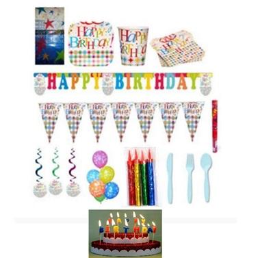Yıldızlar Doğum Günü Parti Seti 24 Kişilik Lüx
