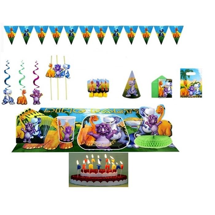 Dinozor Doğum Günü Parti Seti 24 Kişilik Lüx