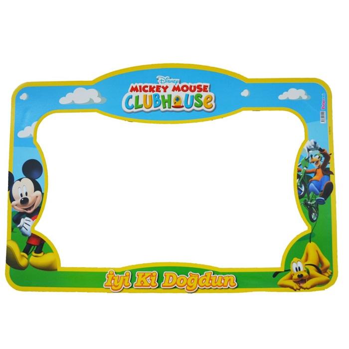 Mickey Mouse Temalı Doğum Günü Fotoğraf Çerçevesi