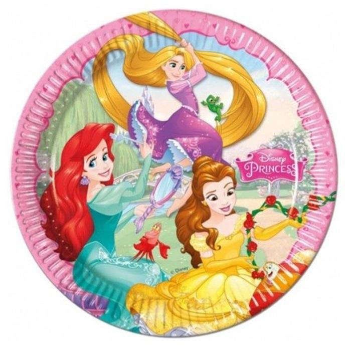 Prensesler Temalı Tabak