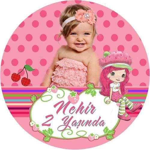 Çilek Kız Temalı Kişiye Özel Sticker