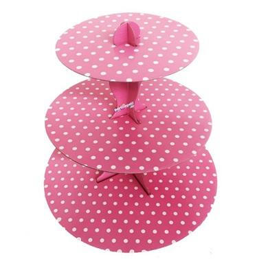 Pembe Cupcake Standı
