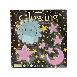 Fosforlu Duvar ve Tavan Stickerları / Güneş-Ay-Yıldız