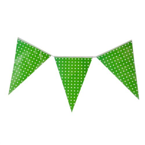 Yeşil Puanlı Bayrak Flama
