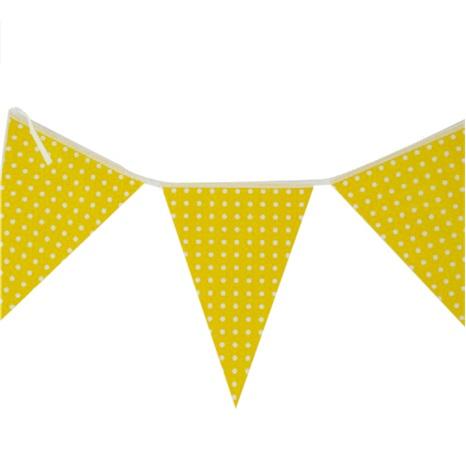 Sarı Puanlı Bayrak Flama