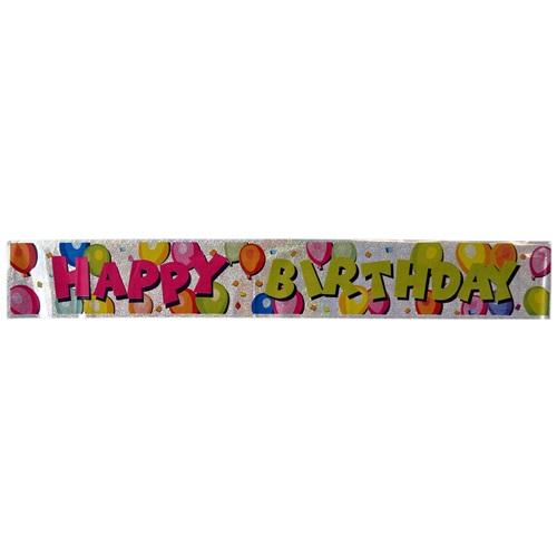 Beyaz Happy Birthday Banner