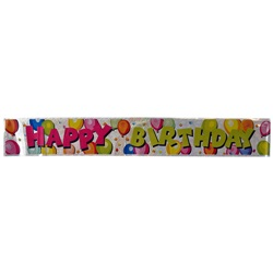 Beyaz Happy Birthday Banner