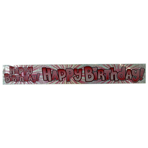 Pembe Happy Birthday Banner