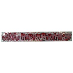 Pembe Happy Birthday Banner