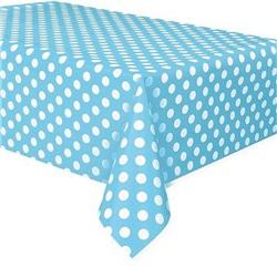 Turkuaz Mavi Puanlı Masa Örtüsü