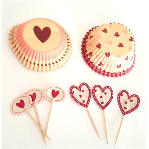 Kalpli Cupcake ve Kürdan Takım