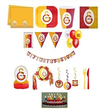 Galatasaray Doğum Günü Parti Seti 24 Kişilik Lüx