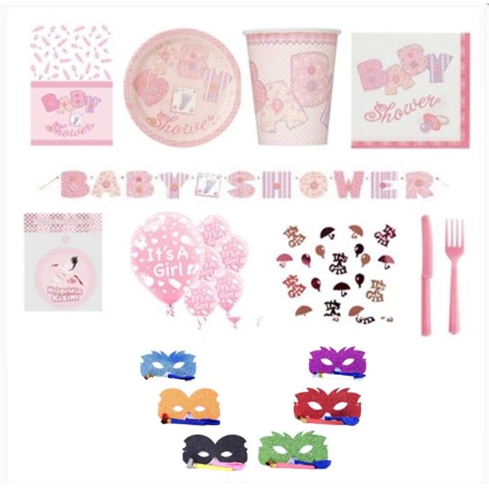 Baby Shower Kutlama Seti 16 Kişilik