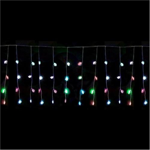 Yılbaşı Ay Yıldızlı Renkli Led Perde