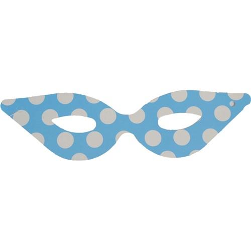 Puantiyeli Parti Maskesi/ Mavi