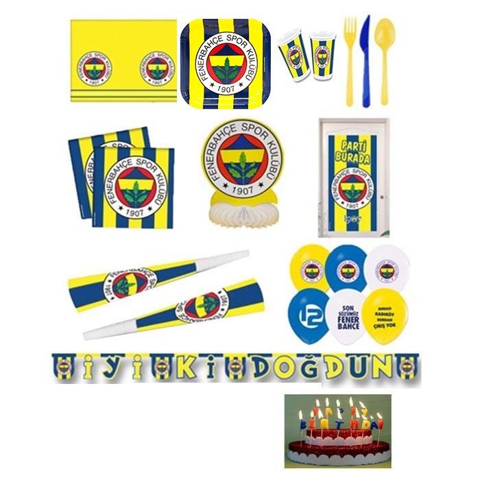 Fenerbahçe Doğum Günü Parti Seti 24 Kişilik Eko
