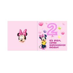 Minnie Mouse Temalı Kişiye Özel Karşılama Kartı