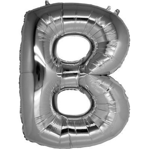 B Harf Folyo Balon Gümüş