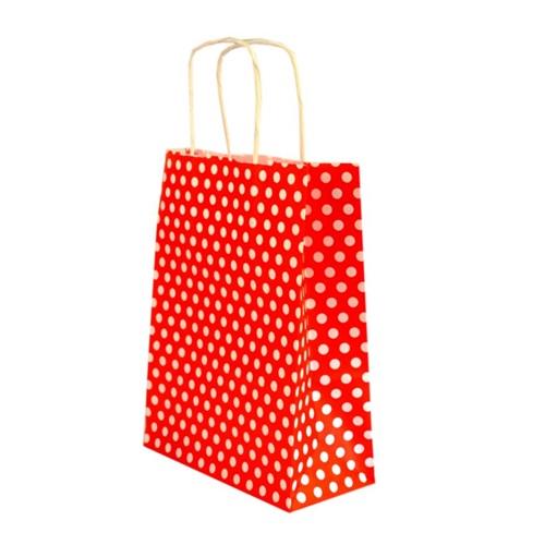 Kırmızı Puanlı Craft Çanta