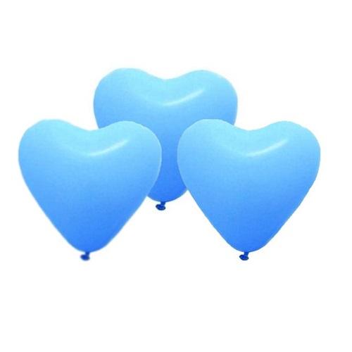 Mavi Kalp Lateks Balon