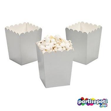 Silver Düz Popcorn Kutusu