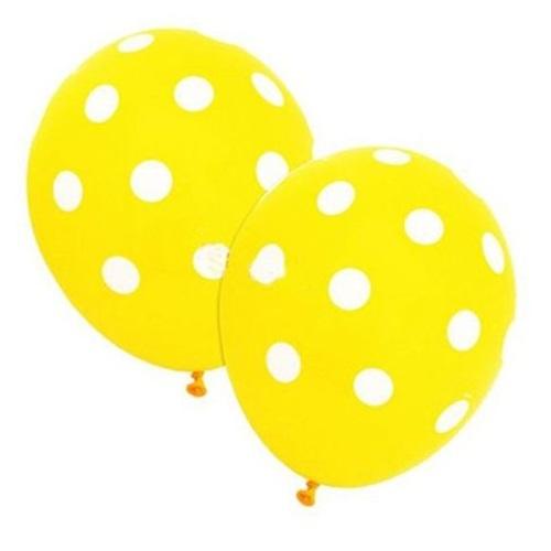 Sarı Üzerine Beyaz Puanlı Balon
