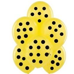 Sarı Üzerine Siyah Puanlı Balon