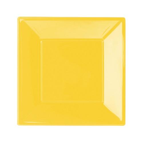 Sarı Büyük Kare Tabak