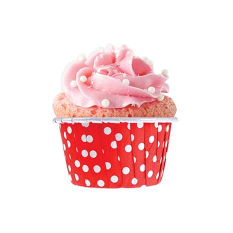 Kırmızı Puanlı Muffin Kek Kapsülü