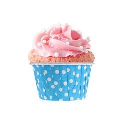 Mavi Puanlı Muffin Kek Kapsülü