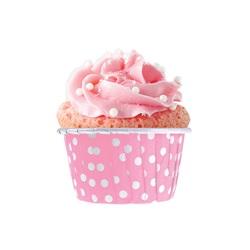Pembe Puanlı Muffin Kek Kapsülü