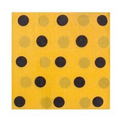 Sarı Siyah Puanlı Peçete