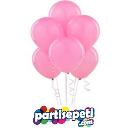 Pembe Düz Latex Balon