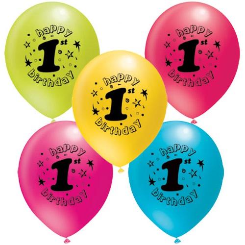 1 Yaş Temalı Baskılı Balon