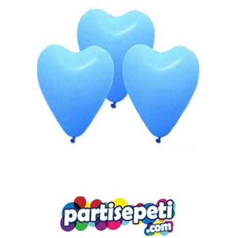Mavi Kalp Latex Balon