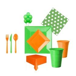 Turuncu Yeşil Parti Seti