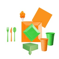Yeşil Turuncu Parti Seti Lüx